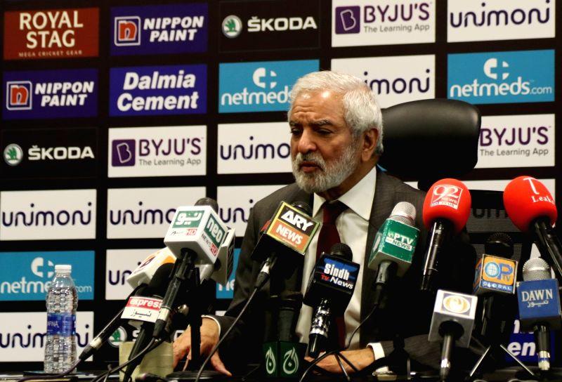 Pakistan Cricket Board (PCB) Chairman Ehsan Mani. Surjeet Yadav/IANS)
