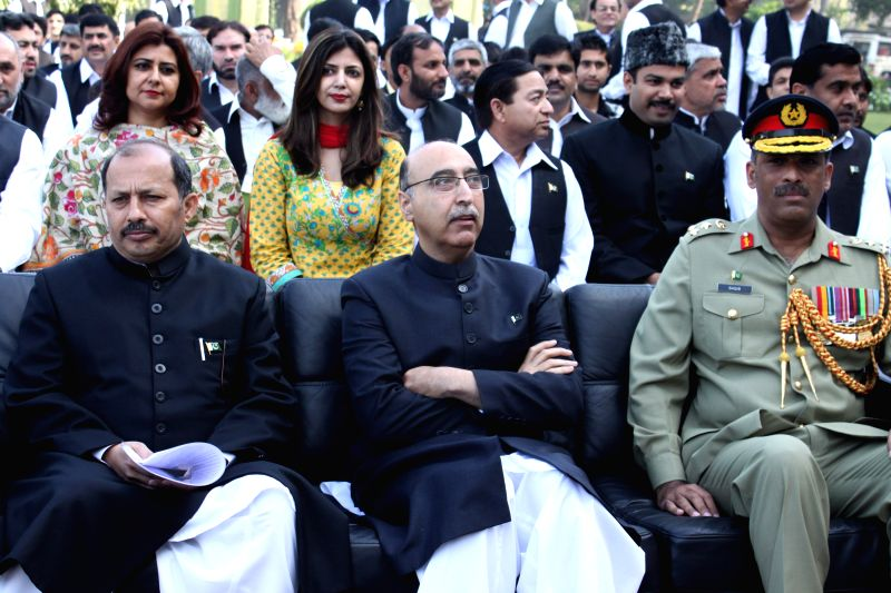 Pakistan High Commissioner to India  Abdul Basit during a programme organised at Pakistan High Commission in New Delhi on Pakistan National Day in New Delhi, on March 23, 2015.