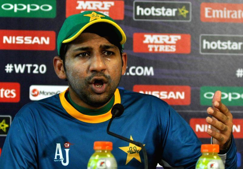 Pakistan player Sarfaraz Khan. (File Photo: Kuntal Chakrabarty/IANS)