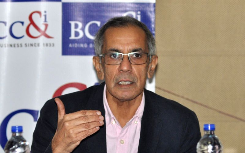 Pakistani Political Economist Professor S Akbar Zaidi addresses on 'Trade and Economic Possibilities and Constraints between India & Pakistan'  during a programme organised by The Bengal ...