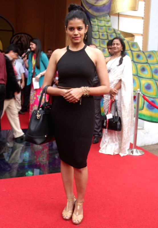 Palomi Ghosh, the lead actress of National Award winning film 'Nachom-ia Kumpasar'  during the International Film Festival of India (IFFI) in Panaji, on Nov 22, 2015. - Palomi Ghosh