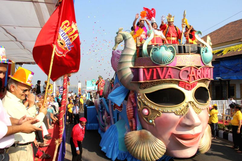 A tableau during the Goa Carnival 2015 in Panaji, on Feb 14, 2015.