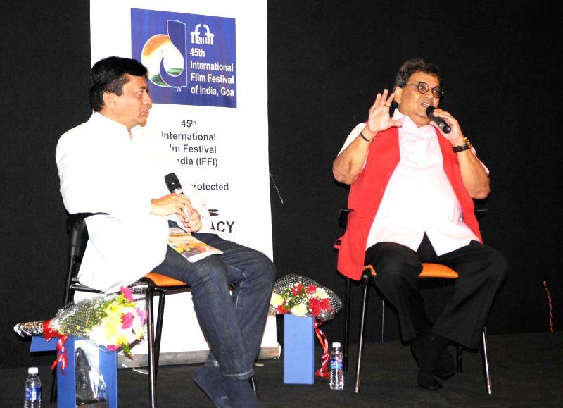 Filmmaker Subash Ghai addresses during a programme organised at the 45th International Film Festival of India (IFFI-2014), in Panaji, Goa on Nov 24, 2014.
