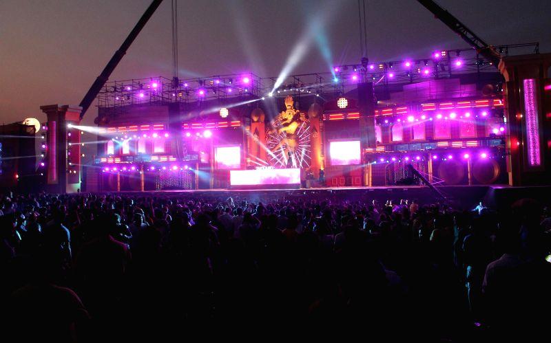 The Sunburn festival begins at Vagator, near Panaji on Dec 28, 2014.