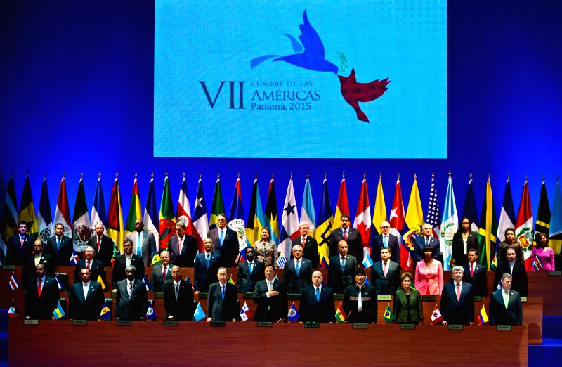 The two-day seventh Summit of the Americas is opened in Panama City, capital of Panama, April 10, 2015.