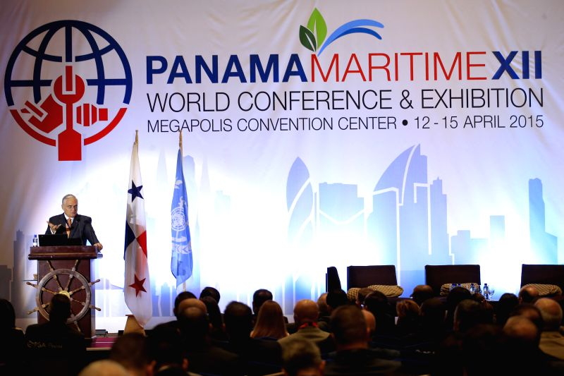 The Administrator of Panama Canal, Jorge Luis Quijano, attends the Panama Maritime XII World Conference & Exhibition, in Panama City, capital of Panama, on ...