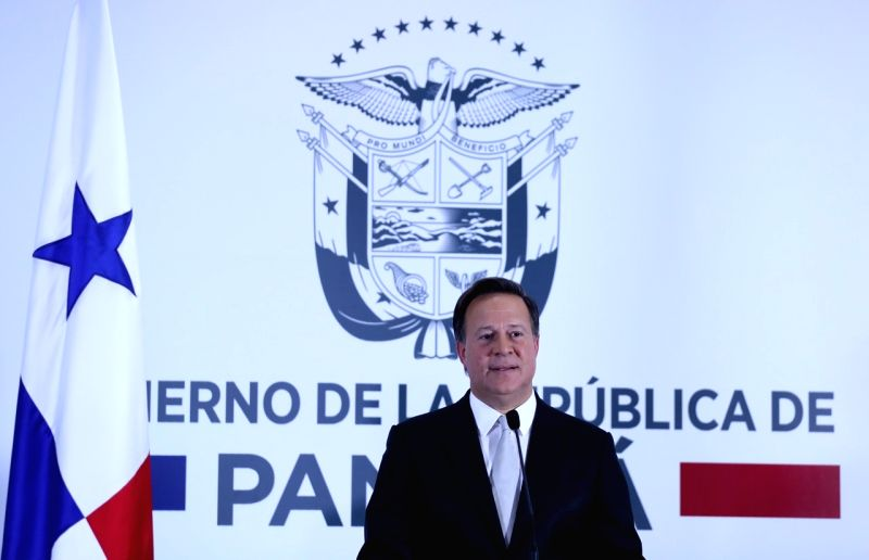 PANAMA CITY, June 13, 2017 - Panamanian President Juan Carlos Varela delivers a speech in Panama city, Panama, June 12, 2017. Panamanian President Juan Carlos Varela announced on Monday that the ...