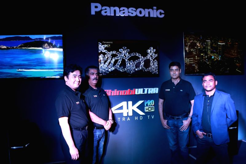 Panasonic India CEO Manish Sharma at the launch of Panasonic's new 4K Ultra HD TV and UA7 sound system in New Delhi on May 29, 2017. - Manish Sharma