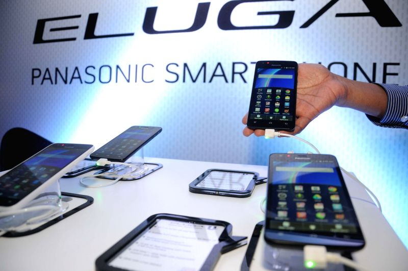 Panasonic launches its Eluga U - a smartphone in New Delhi on July 30, 2014.