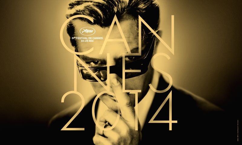 This handout picture by the Cannes film festival on April 15, 2014, shows the official poster of the 67th International Cannes film festival. The poster is designed - Marcello Mastroianni
