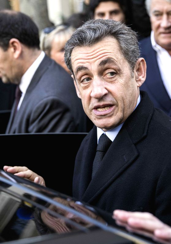 Paris (France): Former French President Nicolas Sarkozy casts his ballot in Paris, France, on Nov. 29, 2014. Former French president Nicolas Sarkozy on Saturday won the race to the leadership of ...