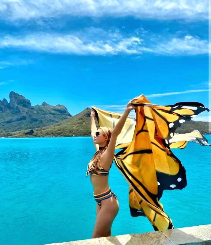 Paris Hilton channels her inner butterfly babe spirit  (Photo:Instagram)