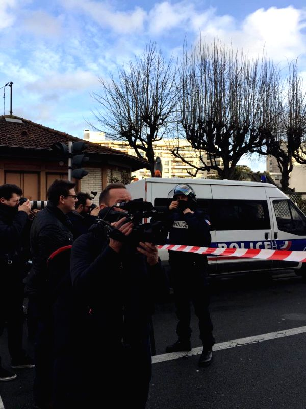 French police blocks the roads near a kosher grocery store as a terrorist militant holds several hostages in the store, in Porte de Vincennes, eastern Paris, on Jan. .