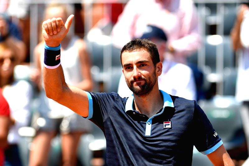 PARIS, June 1, 2017 - Marin Cilic of Croatia greets the spectators after the men's singles 2nd round match against Konstantin Kravchuk of Russia at the French Open Tennis Tournament 2017 in Paris, ...
