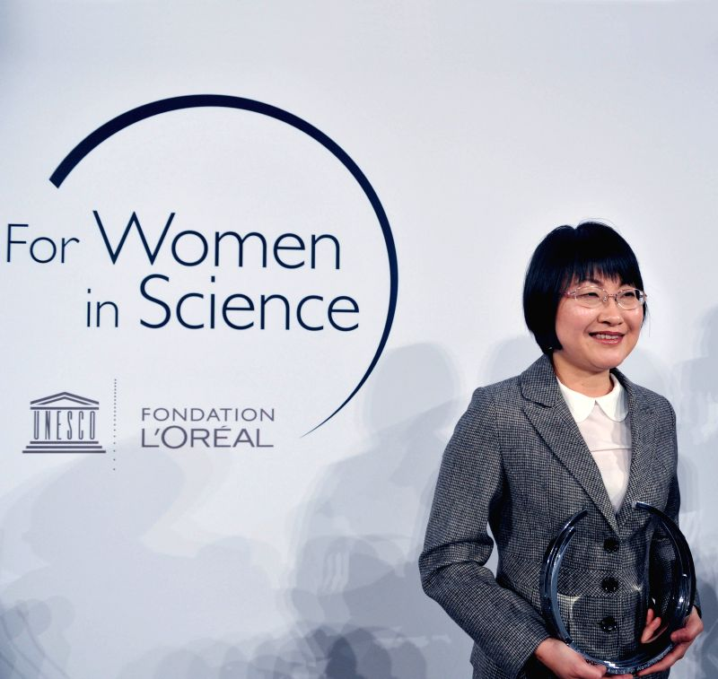 Yi Xie, professor at the University of Science and Technology of China, attends the ceremony of L'Oreal-UNESCO For Women in Science Awards 2015, in Paris, France, ...