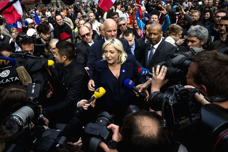Marine Le Pen, leader of the French far right party National Front, attends a May Day rally in Paris, France, May 1, 2014. Photo: