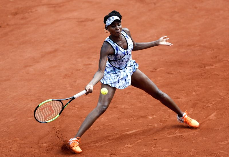 PARIS, May 31, 2017 - Venus Williams of the United States competes during the women's singles second round match with Kurumi Nara of Japan at French Open Tennis Tournament 2017 in Roland Garros, ...