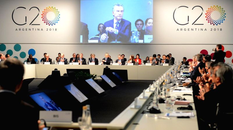 : Participants attend the Group of 20 (G20) Meeting of Finance Ministers and Central Bank Governors in Buenos Aires, Argentina, on July 22, 2018. Finance ...