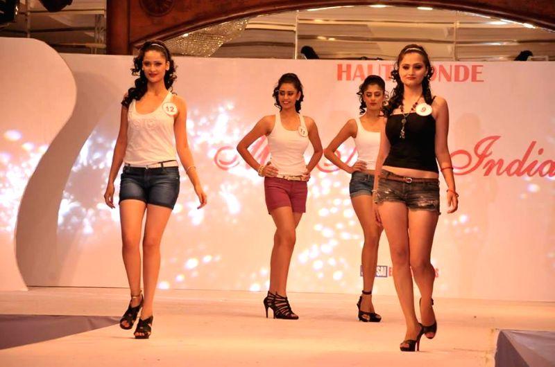 Participants of Miss North India 2014 in New Delhi.