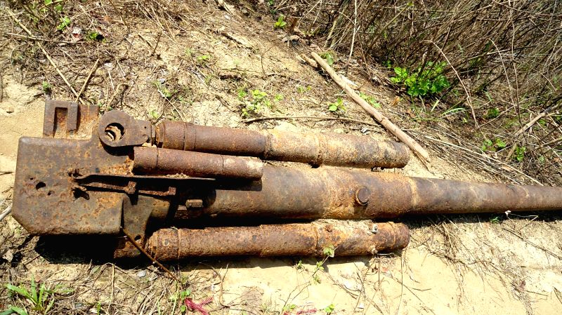Parts of World War -II era American aircraft which were found in Tripura's Dhalai district on May 7, 2014. Earlier Assam Rifles (AR) had discovered the propeller of an American C-47B aircraft, which .