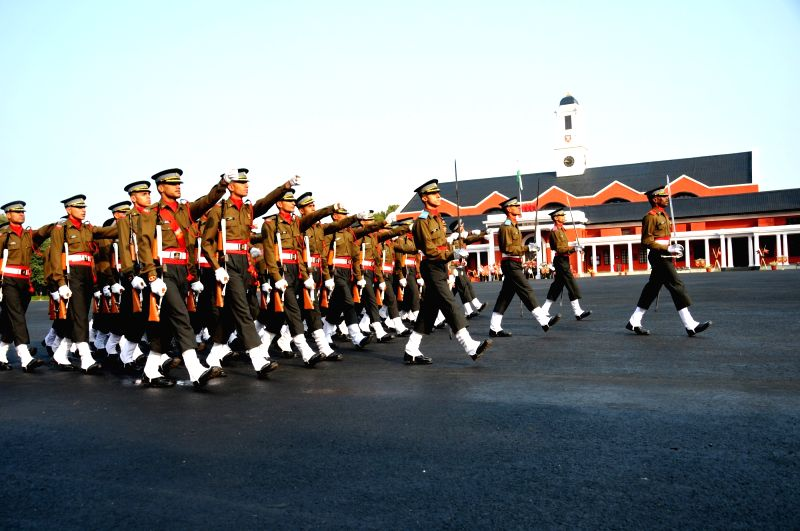 Passing-out parade at Indian Military Academy, Dehradun on Dec 12, 2015.