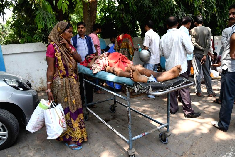 Patients inconvenienced as doctors go on strike in Patna on May 25, 2017.