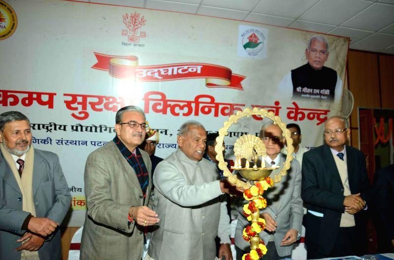 Bihar Chief Minister Jitan Ram Majhi at the inauguration of an Earthquake Security Clinic and Centre at NIT Patna on Jan 20, 2015. - Jitan Ram Majhi