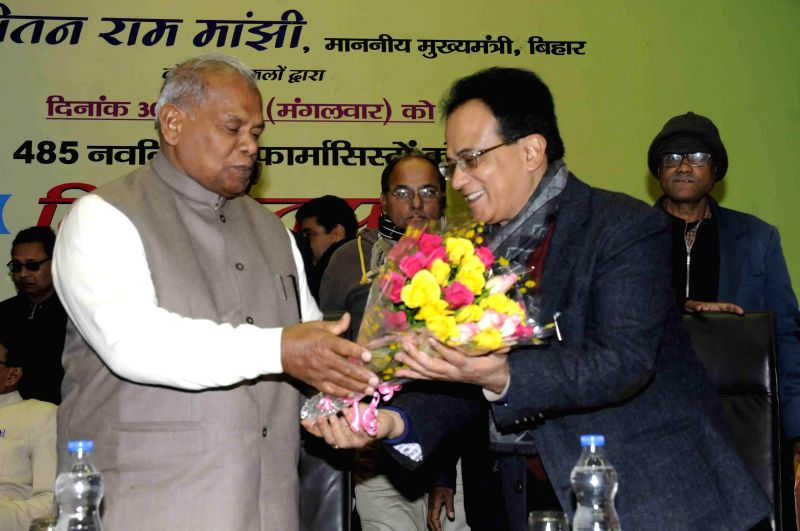 Bihar Chief Minister Jitan Ram Majhi during a programme in Patna, on Dec 30, 2014. - Jitan Ram Majhi