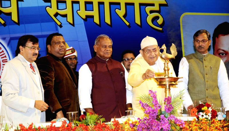Bihar Chief Minister Jitan Ram Majhi during a programme in Patna on Jan 8, 2015. - Jitan Ram Majhi