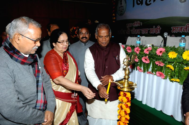 Bihar Chief Minister Jitan Ram Majhi during a programme in Patna on Jan 10, 2015. - Jitan Ram Majhi