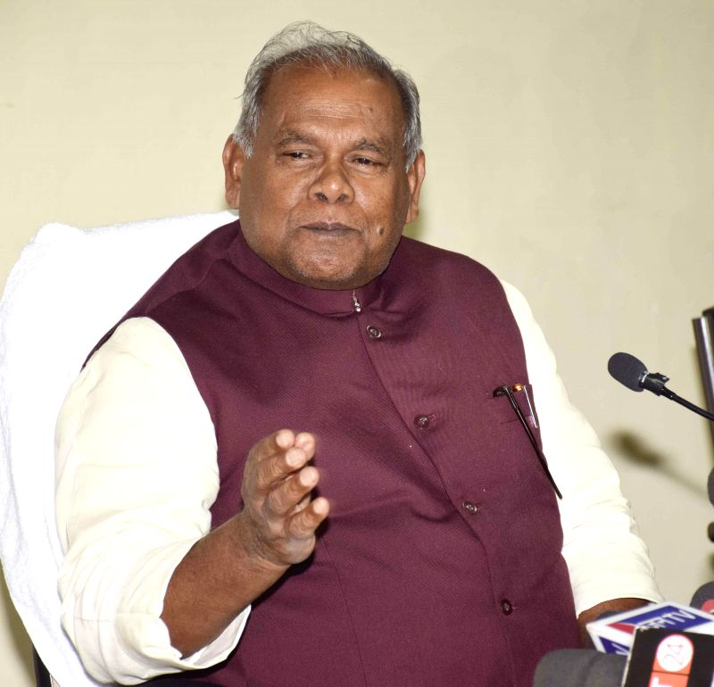 Bihar Chief Minister Jitan Ram Manjhi during a press conference in Patna on Jan. 5, 2015.
