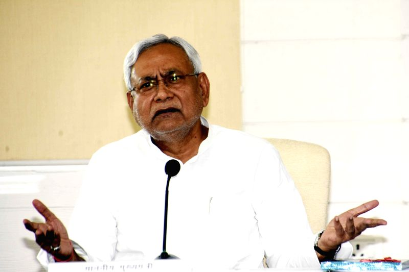 : Patna: Bihar Chief Minister Nitish Kumar addresses a press conference, in Patna, on  Aug 6, 2018 (Photo: IANS).