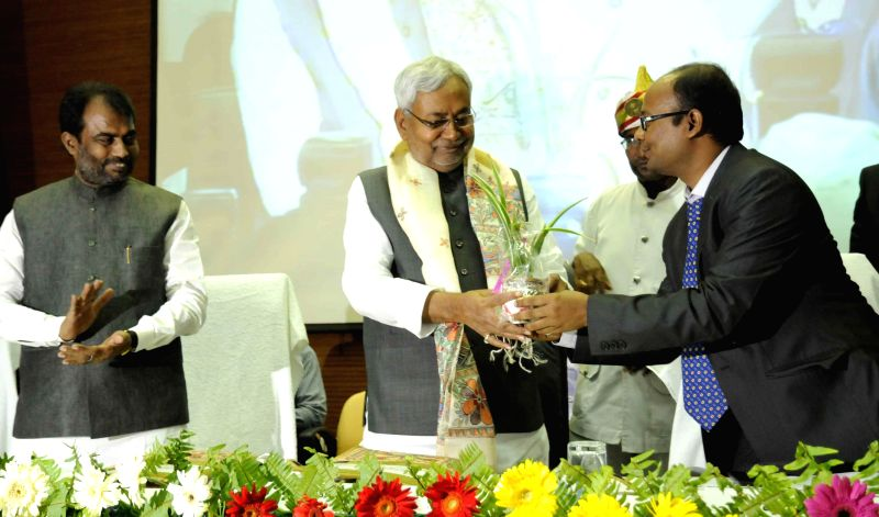 Bihar Chief Minister Nitish Kumar during the 2nd Entrepreneurship Summit in Patna on March 21, 2015.