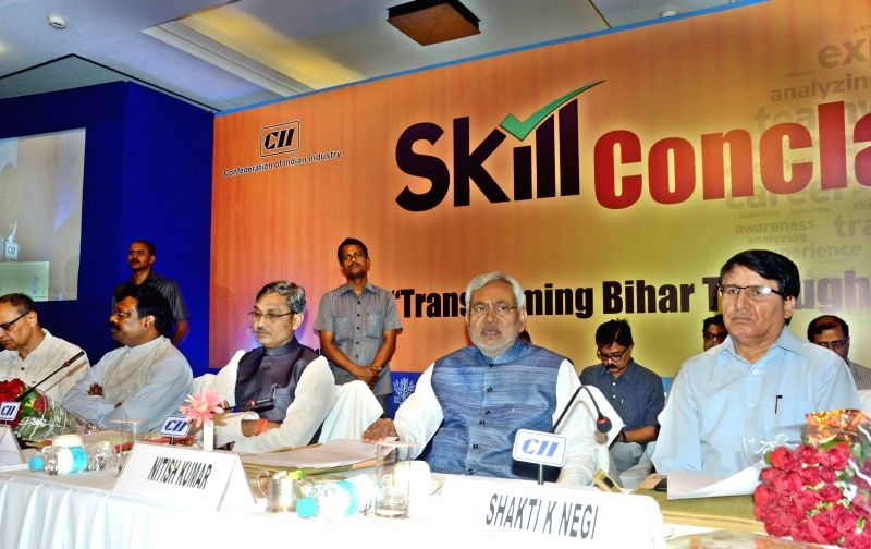 Bihar Chief Minister Nitish Kumar during `Skill Conclave 2015` organised by CII in Patna on March 28, 2015. - Nitish Kumar