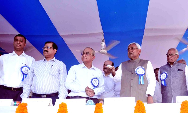 Bihar Chief Minister Nitish Kumar during the foundation day programme of Nalanda Medical College Hospital in Patna, on April 2, 2015.