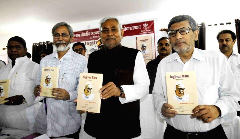 Bihar Chief Minister Nitish Kumar during a programme organised to release a book on Jagjivan Ram in Patna, on April 3, 2015. - Nitish Kumar