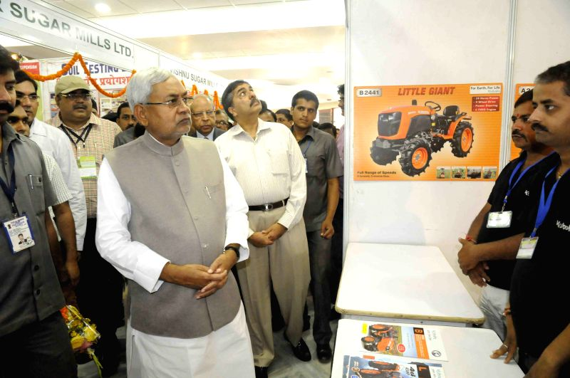 Bihar Chief Minister Nitish Kumar during a sugarcane farmers` conference in Patna, on April 13, 2015. - Nitish Kumar