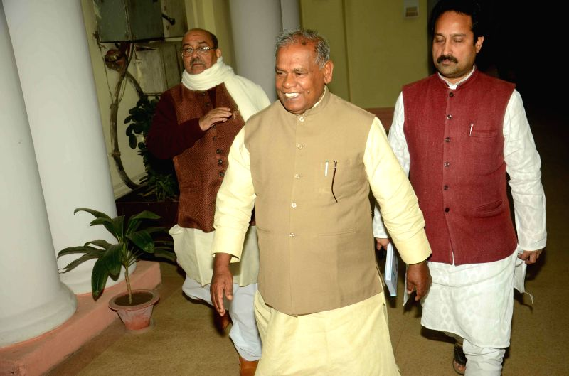 Bihar Science and Technology, Law and IT Minister Shahid Ali Khan comes out after a cabinet meeting in Patna on Feb 10, 2015. - Shahid Ali Khan