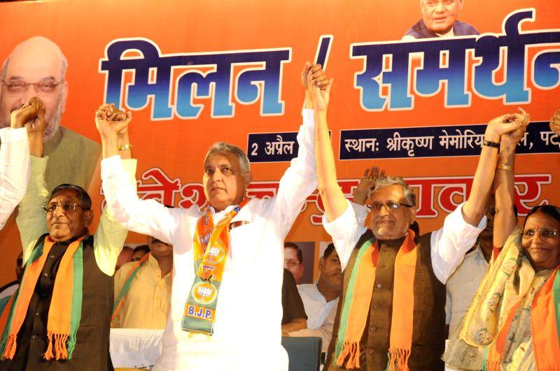BJP leader Sushil Kumar Modi during a programme in Patna on April 2, 2015. - Sushil Kumar Modi