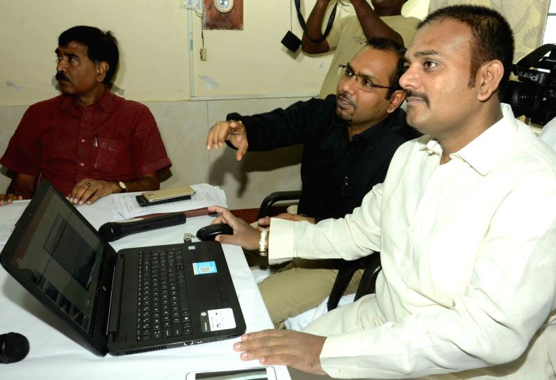 Patna Mayor Afzal Imam during the launch of e-municipality in Patna on July 22, 2016.