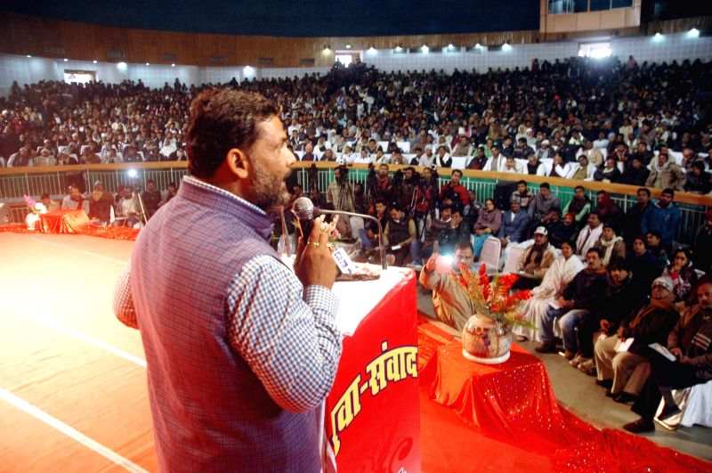RJD MP Rajesh Ranjan aka Pappu Yadav during a programme organised in Patna, on Dec 29, 2014.