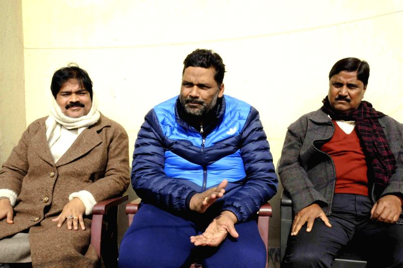 RJD MP Rajesh Ranjan aka Pappu Yadav during a press conference in Patna, on Dec 30, 2014.