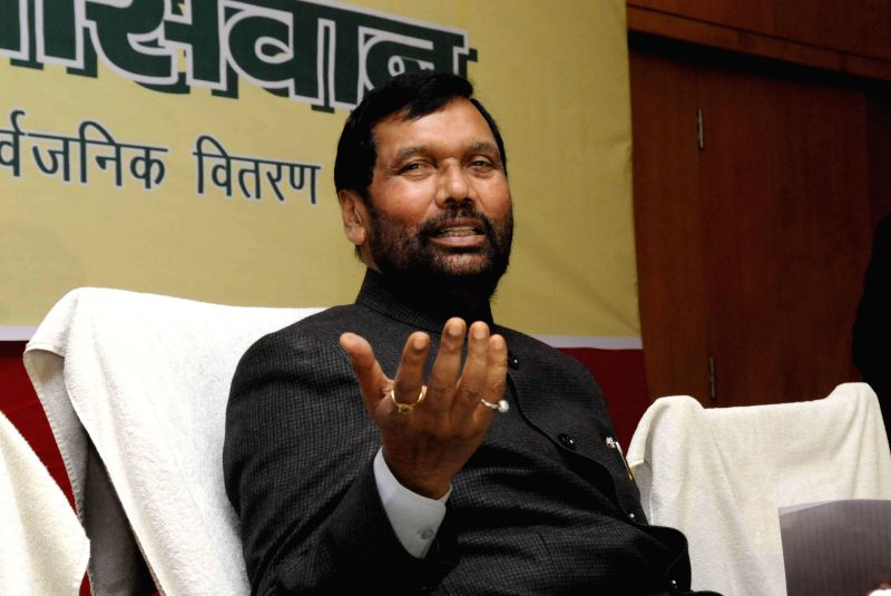 Union Minister for Consumer Affairs, Food and Public Distribution Ram Vilas Paswan during a press conference in Patna on Jan 3, 2015.