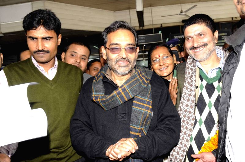 Union Minister of State for Human Resource Development Upendra Kushwaha during a programme in Patna on Jan 7, 2015.