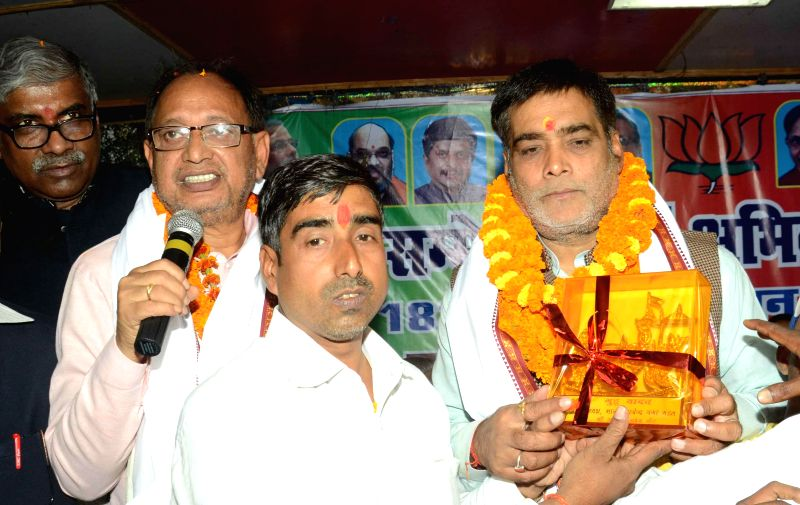 Union MoS for Drinking Water and Sanitation Ram Kripal Yadav during a programme in Patna on Nov 19, 2014.