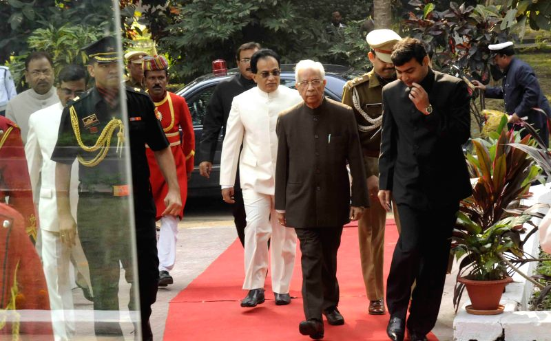 West Bengal Governor Keshari Nath Tripathi arrives to takes over additional charge as Bihar Governor  until a new governor is named, at Raj Bhavan in Patna on Nov 27, 2014. - Keshari Nath Tripathi