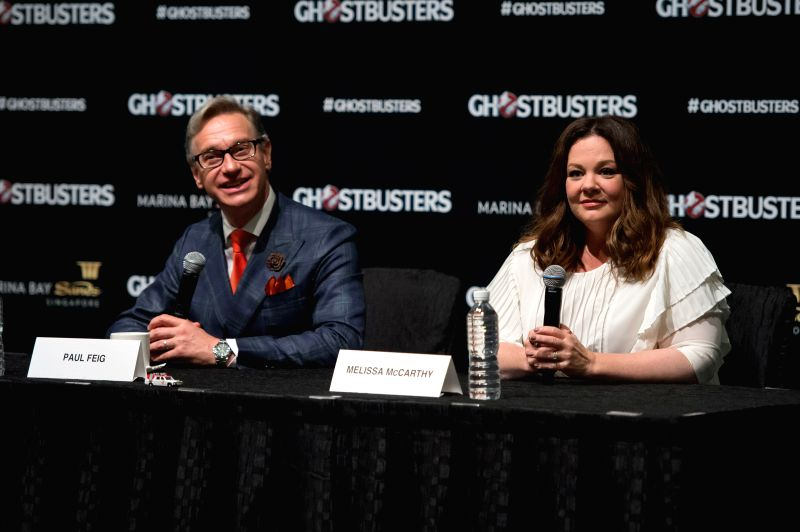 Paul Feig with Melissa McCarthy