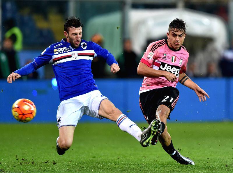 italy genoa italian serie a soccer match juventus vs sampdoria. Black Bedroom Furniture Sets. Home Design Ideas