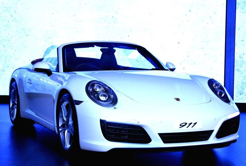 Pavan Shetty, Director, Porsche India at the launch of Porsche 911, in Bengaluru on July 23, 2016. - Shetty