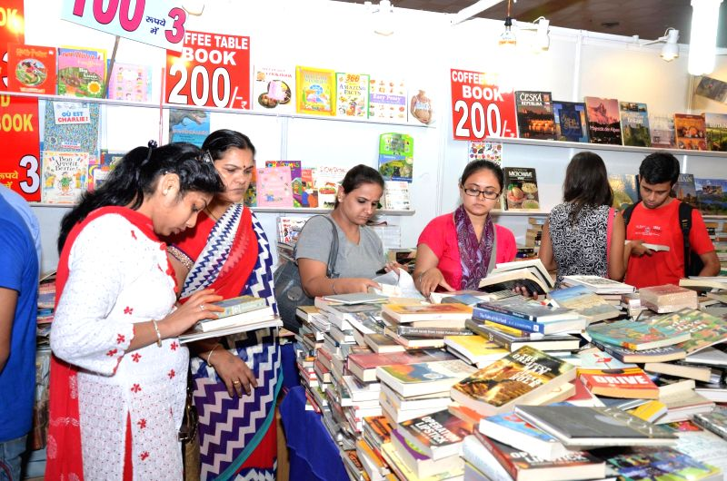 People at 20th Delhi Book Fair in New Delhi on Aug 28, 2014.